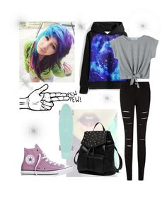 """Untitled #23"" by fangirl-trash ❤ liked on Polyvore featuring WithChic, Converse and Princess Carousel"