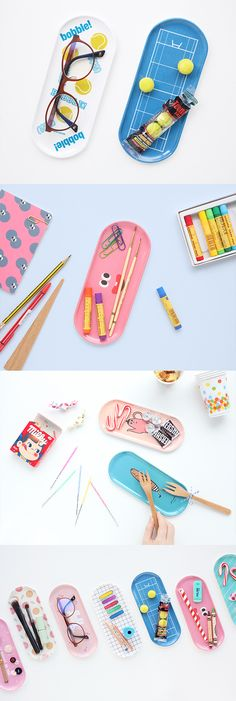 Use this cute & fun Pattern Tray to hold your smartphone, keys, pens, glasses, sticky notes, candies and more!