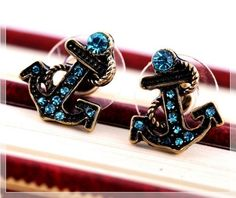 Nautical Earrings is going up for auction at  May 4 with a starting bid of $5.