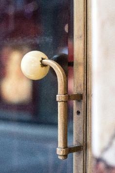Door Handle, American Bar in Vienna by Adolf Loos, Hardware Jewelry, Home Hardware, Door Dividers, Joinery Details, Door Furniture, Door Handles, Door Pulls, Architecture Details, Vienna