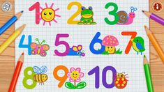 Learning Numbers for Preschoolers Counting For Toddlers, Drawing Games For Kids, English Games, Numbers For Kids, Kids Board, Learning Numbers, Kids Learning, Google Play, Homeschool
