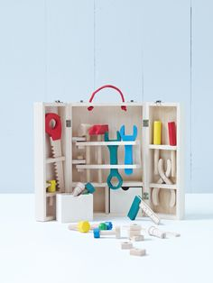 Great kids toys like this Wooden Tool Set  at cox and cox