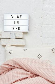 "Leuchtkasten ""Light Up Your Life"" - Urban Outfitters Home Bedroom, Bedroom Decor, Bedrooms, Master Bedroom, Bedroom Office, Interior Inspiration, Room Inspiration, Licht Box, Led Light Box"