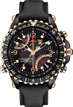 TX Men's T3C326 Classic Fly-back Chronograph Compass Dual-Time Zone Watch