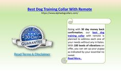 The best dog training collar with remote is the thing that you require right now. Besides, there is no best spot to find that over our site, www.alphadogcollars.com. Ensured by a segment of the best known veterinarians in the nation best dog training collar with remote offered by us boast about likely the most best in class highlights.