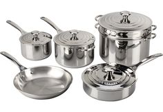 Image for Tri-Ply Stainless Steel 10-Piece Set - Was $1,070 from Le Creuset