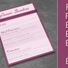 Free Modern Resume Template | Freebiesjedi
