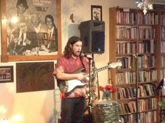 Garrin Jost performing during the Bill Sackter Birthday Bash (Saturday, April 11). The annual event celebrates the life and spirit of Bill Sackter, for whom the coffee house is named.