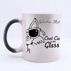 Mug for U cool cat with glass Custom Morphing Mug Coffee Cup >>> Check this awesome image  : Cat mug