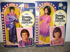 Donnie and Marie Osmond dolls...I still have them out of the box, in separate boxes as pictured here and in the same box.