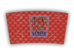 PJ's Coffee custom printed Java Jacket™ coffee sleeve.