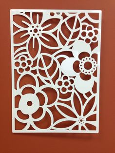 Abstract Flower Metal Wall or Garden Art Panel 24