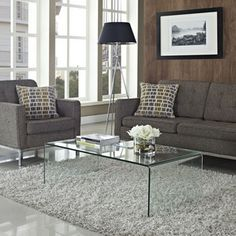 Modway Furniture Transparent Coffee Table in Clear