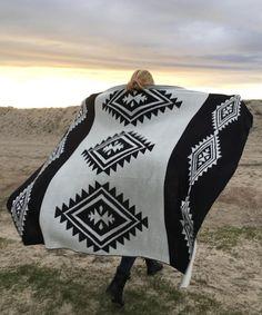 Sand Cloud Black Aztec Blanket