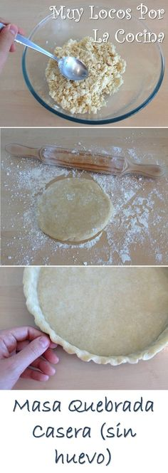 Twittear     La masa quebrada también se conoce como pasta brisa  o Pâte Brisée  en francés (brisée significa rota o quebrad...