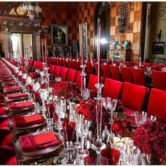 Ultimate Ideas For A Colored Theme Wedding You Must Consider Glamorous Wedding, Red Wedding, Fantasy Wedding Dresses, Luxury Wedding Venues, Elegant Dining, Wedding Themes, Wedding Decor, Wedding Ideas, Wedding Chairs
