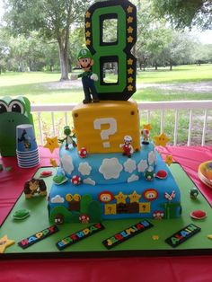 Super Mario Bros Cake: oh how I wanna make this!!!!'