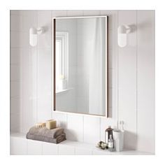 IKEA SKOGSVÅG Mirror White/beech Veneer Cm The Mirror Can Be Hung  Vertically Or Horizontally To Suit Your Needs And Your Space.