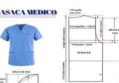 patrones uniforme de medico