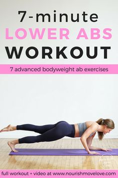 7-Minute Abs Workout for Women | ab workout | ab workouts at home | ab workout for women | 7 minute workout | workouts || Nourish Move Love #abworkout #workouts #core