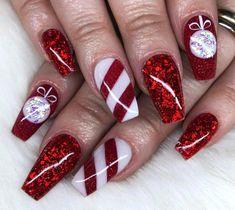 2020 Christmas Nail Art Design Ideas Early 2020 December 30 2019 at nails Chistmas Nails, Cute Christmas Nails, Xmas Nails, Holiday Nails, Halloween Nails, Nail Art Noel, Xmas Nail Art, Christmas Nail Art Designs, Best Acrylic Nails
