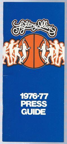 1976-77 Illinois Fighting Illini Big Ten Men's Basketball Media Press Guide | eBay