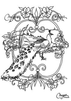 free coloring page coloring adult animals peacock coloring page of a beautiful