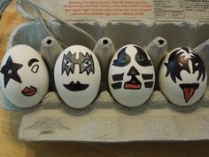 My husband hand decorated these eggs yesterday. I think they are fantastic! KISS