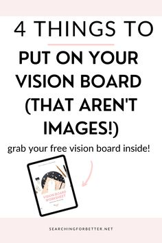 4 DIY Vision Board Ideas (That Aren't Images!). Learn how to make an amazing vision board with these simple creative ideas. This free printable also has a great template to help you design the best vision board you can for yourself! Find inspiration on how to turn your goal setting ideas into an amazing vision board. Vision Board Template, Wish Board, Creating A Vision Board, Deal With Anxiety, The Secret Book, Law Of Attraction Quotes, Good Vibes Only, Self Improvement, Self Love