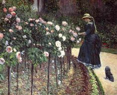 Gustave Caillebotte - Les Roses, Jardin du Petit-Gennevilliers