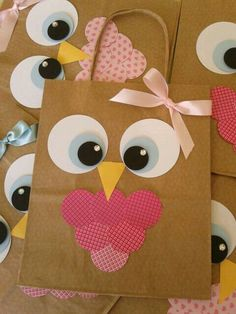Fun Easy Crafts, Creative Crafts, Diy And Crafts, Crafts For Kids, Diy Gift Box, Diy Gifts, Owl Birthday Parties, Owl Parties, Owl Bags