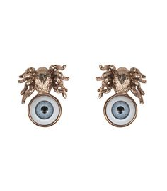 Fall Jewelry Guide at #ShopBAZAAR: Whimsical Jewelry –  Bernard Delettrez Bronze Spider Eye Earrings