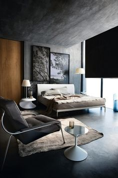 Masculine and Industrial (Concrete walls and ceiling)
