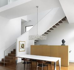 half wall on stairs