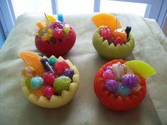 Fruits candles for summer decor Gel Candles, New Crafts, Soap Molds, Soap Making, The Help, Fruit, Sweet, Desserts, Summer