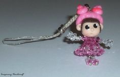 Little Girl cell phone charm by ImaginaryHandicraft on Etsy, €7.80