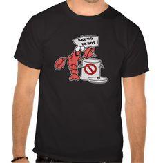 Poor Lobster T Shirts - seafood - vegan - raw vegan tshirts