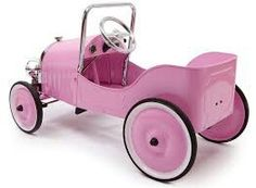 Every ride is an adventure with the Baghera Classic Metal Ride-On Pedal Car. With vintage grill and body, this car looks like it just drove out of the Your child will learn motor skills as they push and pedal their way around town. Pretty Pink Princess, Making Wooden Toys, Pedal Cars, Everything Pink, Go Kart, Antique Toys, Baby Accessories, Cool Toys, Kids Toys