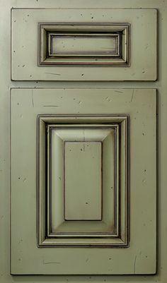 how to glaze dark sage green cabinets