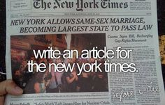 Write an article for the New York Times
