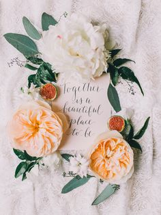Today is a beautiful place to be. photo by Rachel May Photography http://ruffledblog.com/clifton-inn-wedding-inspiration #weddingideas #papergoods #gardenroses
