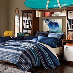 Stuff-Your-Stuff Platform Bed System (Bed, Towers, Shelves + Desk) | PBteen