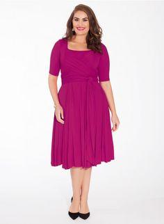 Tiffany Plus Size Dress in Magenta