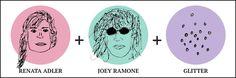 Baby Geisha by Trinie Dalton = Renata Adler + Joey Ramone + Glitter