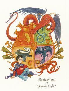original thomas taylor harry potter illustrations