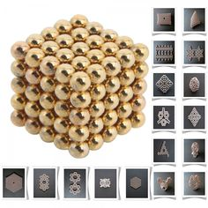 125pcs 5mm DIY Buckyballs Neocube Magic Beads Magnetic Toy Golden.  Check this out at the Tmart link on MomTheShopper.
