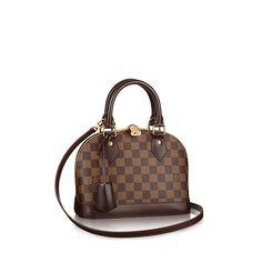 Alma BB Damier Ebene Canvas Women Handbags | LOUIS VUITTON