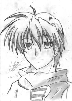 clannad draw - Okazaki-kun
