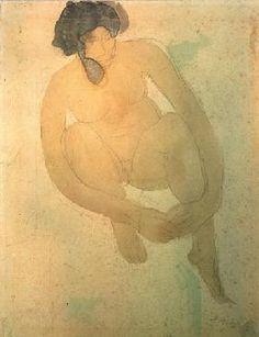 Auguste Rodin - Weiblicher Akt, sitzend frontal