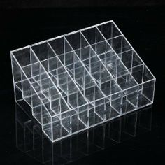 Cheap Makeup Tools, Buy Quality Acrylic Cosmetic Organizer directly from China Acrylic Cosmetic Organizer Suppliers: 24 Grid Clear Makeup Holder Lipstick Nail Polish Display Trapezoid Organizer Makeup Storage Containers, Makeup Storage Organization, Cosmetic Containers, Cosmetic Display, Cosmetic Storage, Revlon, Eyemakeup For Green Eyes, Face Makeup Kit, Makeup Case